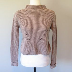Atmosphere Knitted Pullover Sweater Brown/Tan